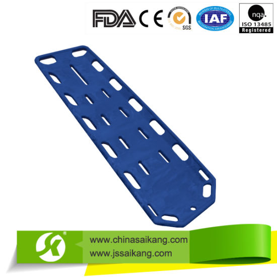 X-ray Plastic Folding Stretcher Spine Board (CE/FDA/ISO) pictures & photos
