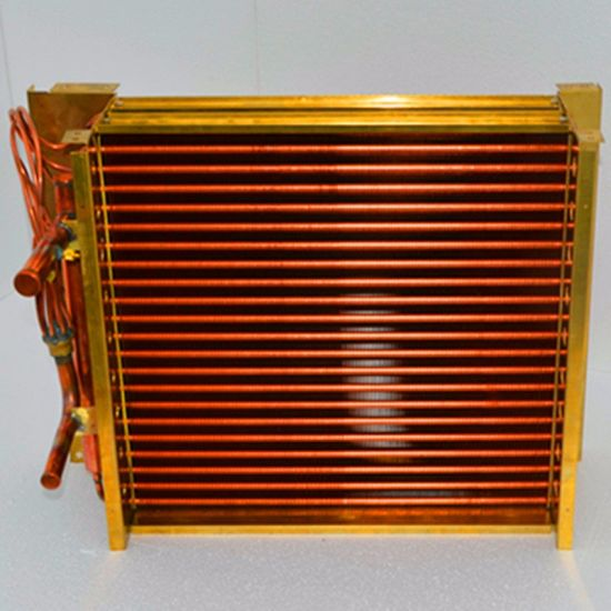 Refrigeration Copper Fin Copper Tube Heat Exchanger Condenser Evaporator Coil