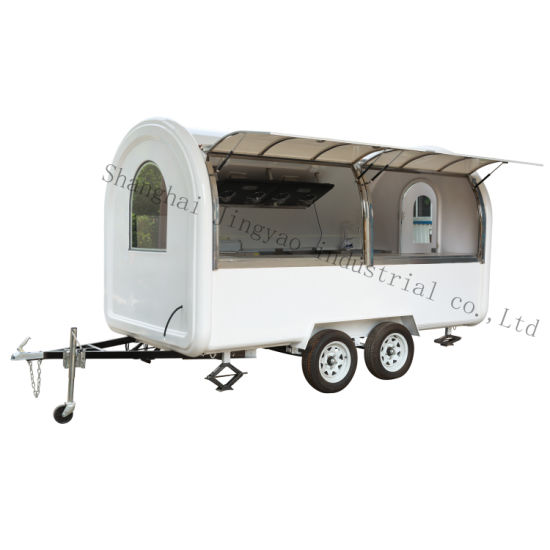 Thai Fry Ice Cream Roll Cart Trailer, Mobile Coffee Food Truck for Shaved Ice Cream, Mobile Food Cart/Food Vending Truck