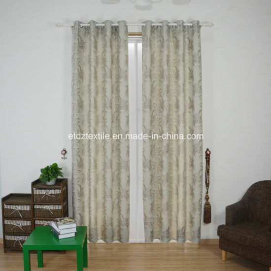 2018 Top Sell Linen Jacquard Piece Dyed Window Curtain pictures & photos