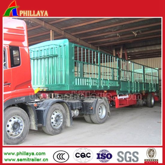 China Manufacture Livestock Transport Fence Semi Trailer pictures & photos