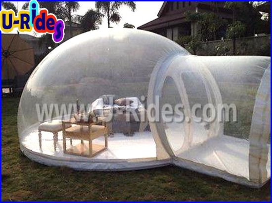 inflatable transparent bubble clear tent with PVC material for beach camping