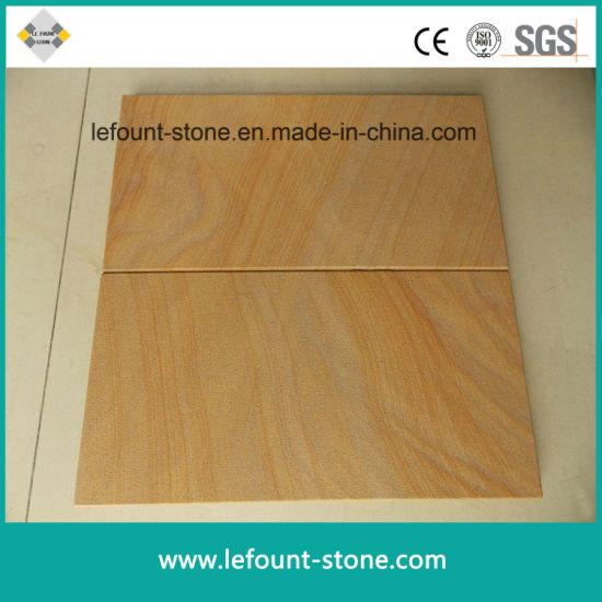 China Yellow Wooden Vein Sandstone For Tilesslabsstairswall