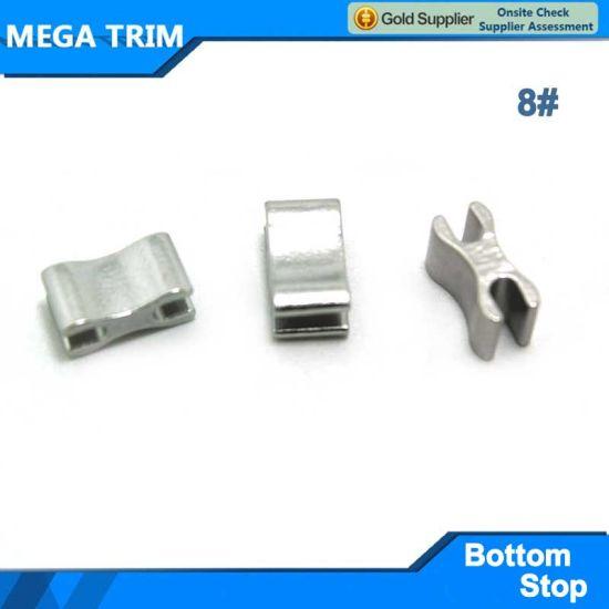 China 8# H U Shape Silver Zipper Button Stop - China Silve