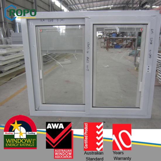 China Factory Price Plastic/PVC Frame Sliding Design Window with ...