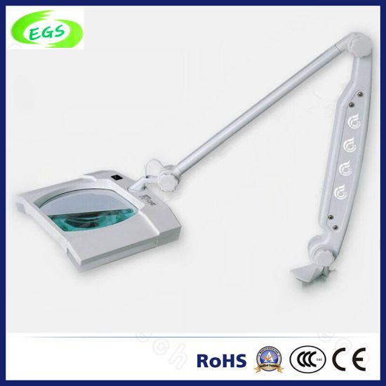 Clamp/Hands Fingernail Use Table Type LED Magnifying Lamp