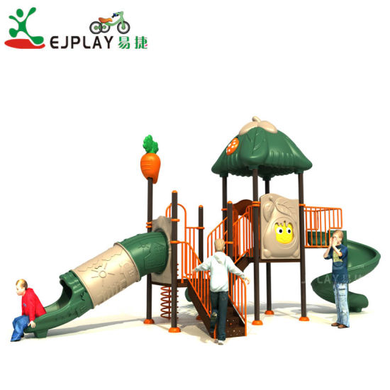 Ej Factory Colorful Plastic Commercial Outdoor Slide Playground