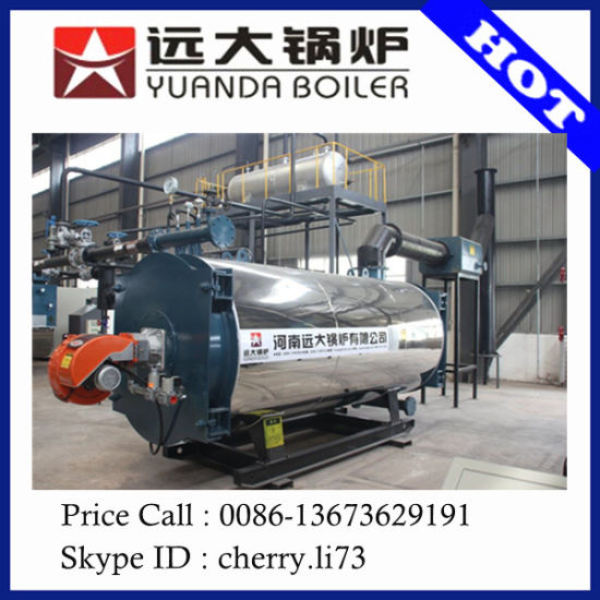 China Compact stracture WNS horizontal steam boiler gas fuel boiler ...