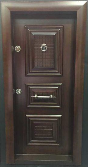 Turkish Style Armor Steel Wooden Door \u0026 Armored Door Double Entrance Door (ESD-104) & China Turkish Style Armor Steel Wooden Door \u0026 Armored Door Double ...
