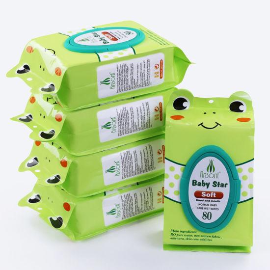 Organic Natural Skin Care Cheap Wet Wipes, Organic Biodegradable Baby Wet Wipe