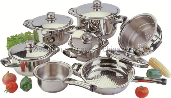 12PCS Stainless Steel Wide Edge Cookware Set