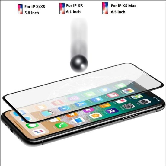 Wholesale Mobile Tempered Glass 3D Curved Nano Flexible Screen Protector 9h 4D Glass for iPhone 8 X Screen Protector pictures & photos