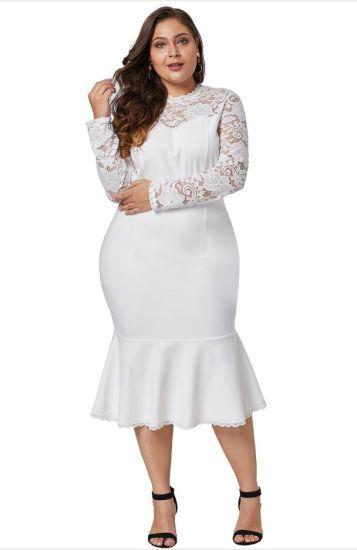 China Manufacturer Plus Size Dresses - China Plus Size ...
