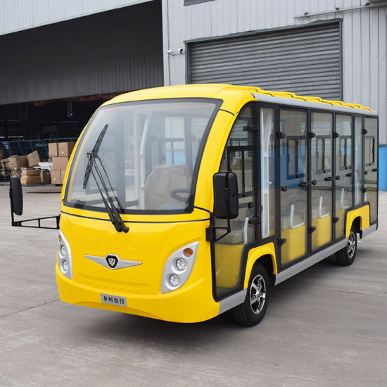 11 Passengers Battery Powered Classic Shuttle Electric Sightseeing Tourist Car for Tourist for Resort