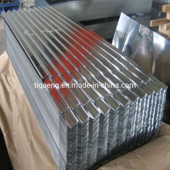 22 Gauge Regular Spangle Hot Dipped Galvanized Gi Corrugated Roof Sheet