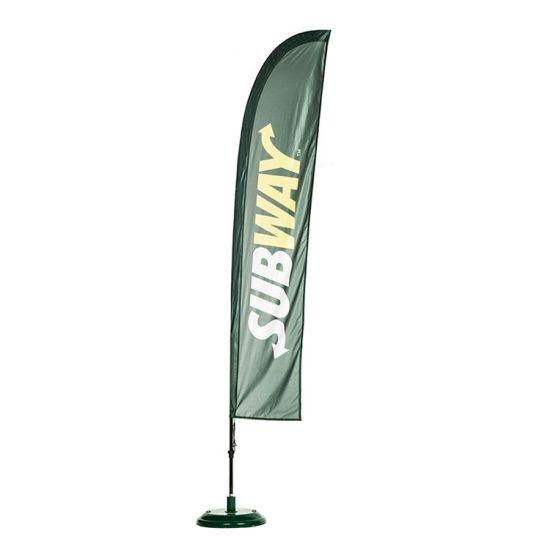 Customed Fiberglass Pole Teardrop/Beach/Feather Flying Flag