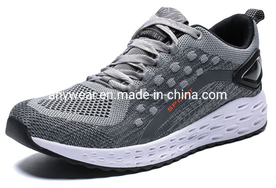 New Design Flyknit Upper Gym Sports Running Sneaker Shoes for Men and Women (9902)