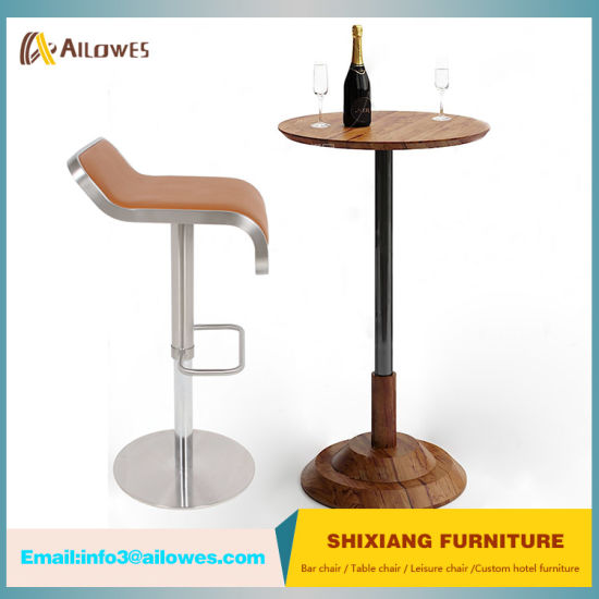 New Arrival PU Seat Stainless Steel Gas Spring Swivel Bar Stool High Chair