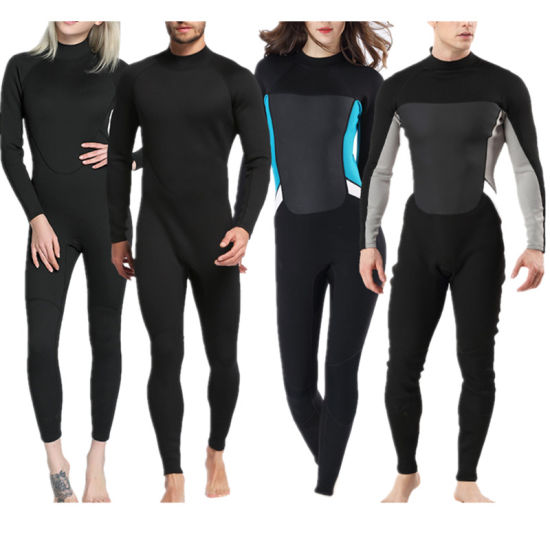 Lovers Pure Black Suit Surf Suit Cold Diving Swimsuit Outdoor Beach Surfing Diving Wetsuit for Men and Women
