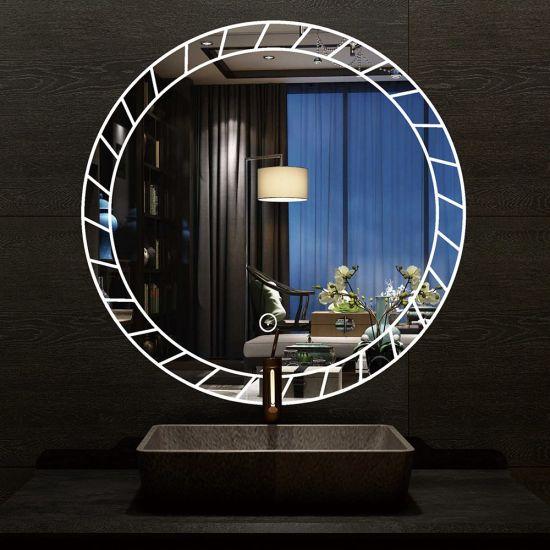 China Led Mirror Touch Screen Bathroom Round Wall Mirror China Anti Fog Light Makeup Mirror