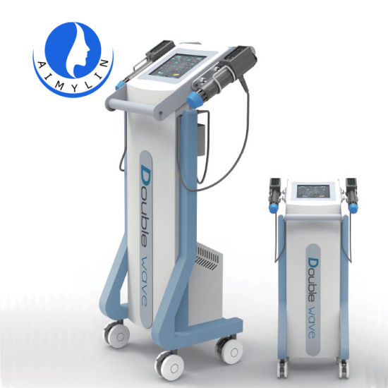 Big Size Shockwave Therapy Machine with 2 Shock Wave Handles Work Together for Back Pain Relief and Weight Loss Fast Shock Wave for Erectile Dysfunction Medical