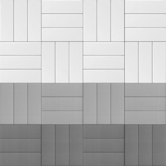 China 4x1210x30cm White Matte Bevel Metro Tile For Bathroom