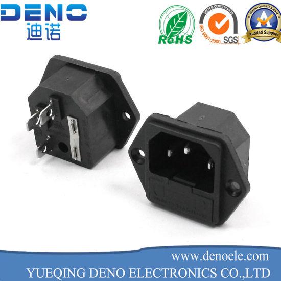 Fuse Holer 3p C14 Power Supply Male Plug Socket