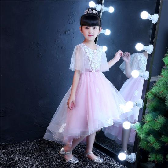 Half Sleeve Lace Little Girl Dress for Wedding