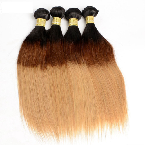 Wholesale Distributors Color 1b/4/27# Virgin Malaysian Straight Human Hair Extension Jfy-016 pictures & photos