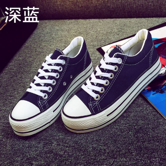 China Black Canvas Shoes and No Lace
