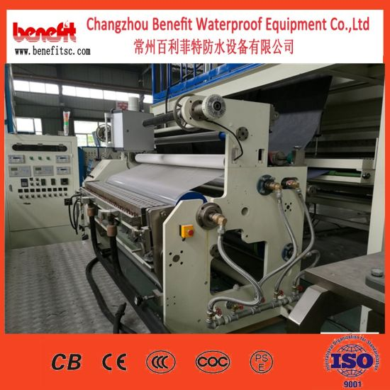 Industry Non-Asphalt High Polymer Membrane (CPE, PE TPO membrane) Waterproof Rolling Material Production Line pictures & photos