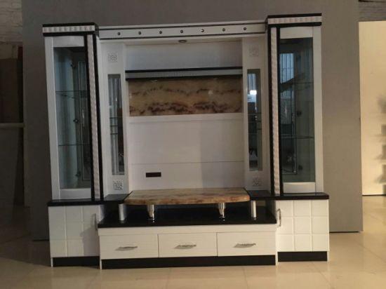 Luxury Wood Cabinet Living Room Furniture TV Set