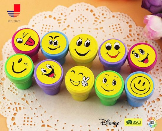 Self-Ink Plastic Assorted Emoji Stamps for Kids pictures & photos