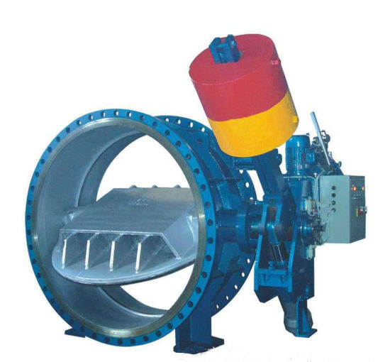 Water Power Plant Use Quality Counter-Weight Butterfly Valve