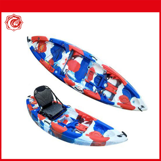 9FT Fishing Kayak Canoe 1 Persons Double Family 2.7m 6 Rod Holders Seat Paddle Kayak