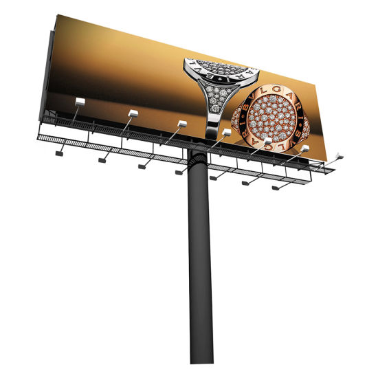 Hot Selling Outdoor Steel Structure Advertising Display Column Billboard pictures & photos