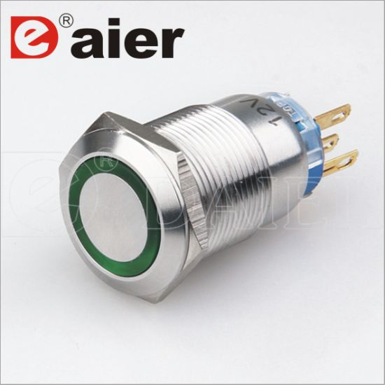 China Electrical 5 Pin Momentary 19mm Led Metal Push Button Switch China Push Button Switch Metal Push Button Switch