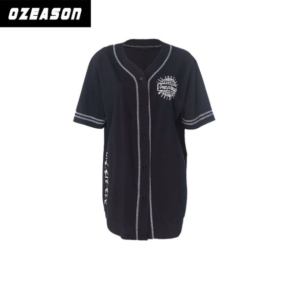 Latest Design Fashion Black Dri Fit Custom Baseball Jersey (B015)