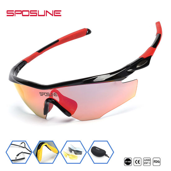 b05f87c17c Best Quality Windproof Cycling Running Fishing Sunglasses Wrap Around UV  Protective Biker Sport Eyeglasses with Light