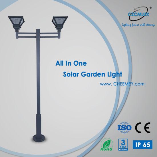 Casting Aluminum LED Solar Garden Lamp for Outdoor Lighting