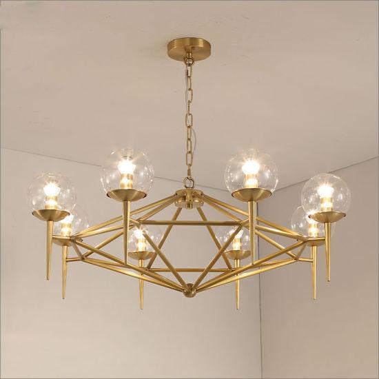 f608428a44c China Glass Ball LED Pendant Lights Modern Chandelier Lighting ...