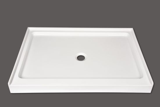 Pure Acrylic Rectangular Shower Base With 3 Lips