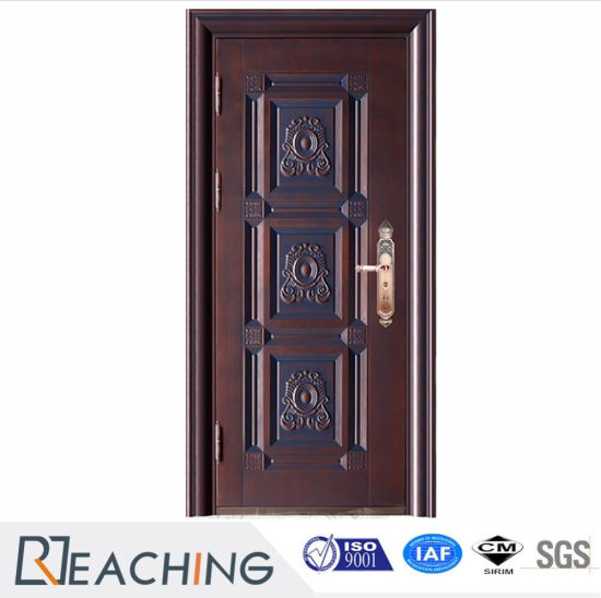 Superb Best Price Best Selling Modem Style Steel Wood Armored Door