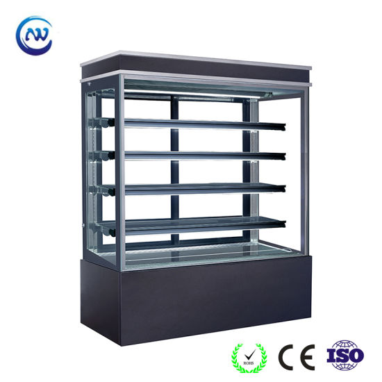 China Glass Door Right Angle Marble Showcase For Cake Shop S780v M