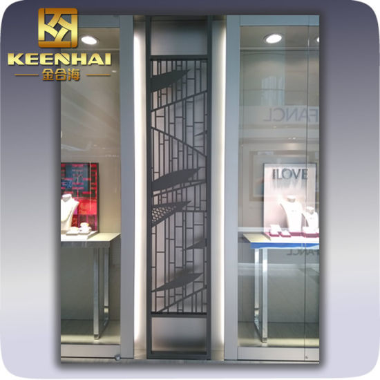 China Indoor Decorative Metal Stainless Steel Room Divider Partition