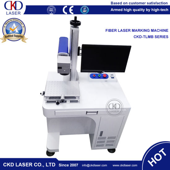 50W Table Style Engraver Fiber Laser Marking Machine pictures & photos