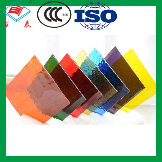 China Glass Supplier Wholesale Sheet Toughened Glass Multi Color Customized Laminated Float Building Tempered Stained Glass