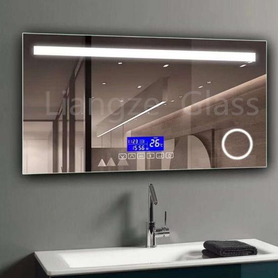 China Diy Shape Home Interior Wall Mirrors Led Illuminated Backlit Bathroom Mirror China Led Bathroom Mirror Illuminated Bluetooth Mirror