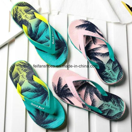 03c72278ae7b Coconut Palm Painting Women Summer Slipper EVA Flip Flop Yx0627-12 pictures    photos