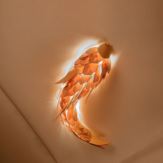Hotel Restaurant Bar Bedside Fish Wall Lamp